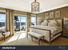 Luxury Bedroom Interior Luxury Bedroom Interior Rich Furniture Scenic Stock Photo