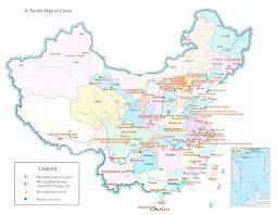 Карты Китая Подробная карта Китая на русском языке с курортами и  Туристическая карта Китая