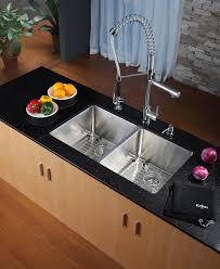kraus stainless steel sinks. Simple Kraus KRAUS 33 Inch Undermount 5050 Double Bowl 16 Gauge Stainless Steel Kitchen  Sink With Throughout Kraus Sinks I