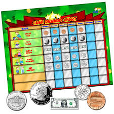Coin Chart For Kids Cadily Cash Reward Chart Magnetic Chore Chart For Kids Its A Chore Chart Kids Love To Use For Money Games Rewards Good Behavior