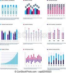 Infographics Marketing Graphs Financial Histogram Bar Chart Statistic Charts And Stock Infocharts Infographic Vector Set