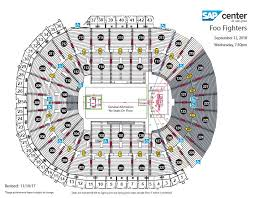 Flames Central Seating Chart Foo Fighters Sap Center