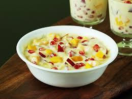 fruit salad with custard. Delighful Custard Fruit Custard Recipe To Fruit Salad With Custard Swasthiu0027s Recipes