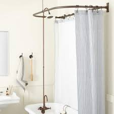 gooseneck clawfoot tub shower conversion kit d style solid brass shower ring