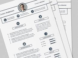Super Clean Resume Cv Template With Ms Word By Daniel E Graves