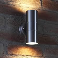 auraglow up down outdoor wall light winchester stainless steel