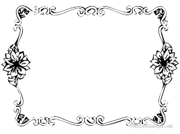 free printable borders teachers elegant clip art border coloring page flower for teacher
