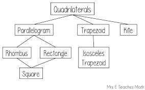 Quadrilateral Flow Chart Blank Quadrilateral Worksheets High School Classify Quadrilaterals