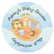 noahs ark baby shower ideas for baby shower party. Noah\u0027s Ark - Personalized Baby Shower Sticker Labels 24 Ct Noahs Ideas For Party