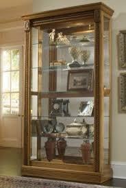 pulaski curio cabinet. Perfect Cabinet Pulaski Estate Oak Two Way Sliding Door Curio Intended Cabinet E