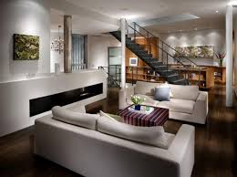 sleek modern furniture. Sleek Modern Contemporary Living Room Ideas With Two White Sofas And Gas Fireplace Furniture N