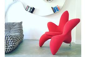 funky style furniture. Unique Funky Design Modern Red Flower Chair Armchair Edra Style Photo 1 Furniture A