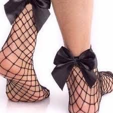 <b>Hot</b> Women's Harajuku Black <b>Breathable</b> Bow knot Fishnet Socks ...