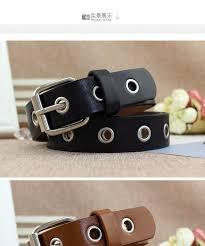 coco rush faux leather grommet belt