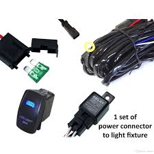 40a wiring harness kit 20a led light bar laser rocker switch 2 sets of power connectors to light fixtures