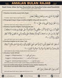 Berikut penjelasan menurut menurut syekh nadzim alhaqqaany diantaranya shalawat nabi semampumu bisa dari hitungan 100, 1000 hingga 10.000 kali, membacakan kalimat tauhid 'laa. Amalan Amalan Bulan Rajab Yang Dianjurkan Rasulullah