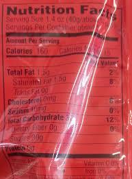 original skittles nutrition facts
