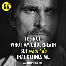 Christian Bale Quotes Best Of Christian Bale Quote About Be Yourself Inspirational Real