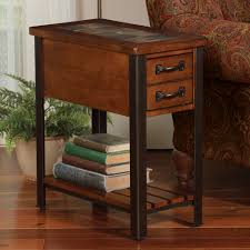 furniture narrow end tables with drawers save more space table drawer inches leick chairside lamp
