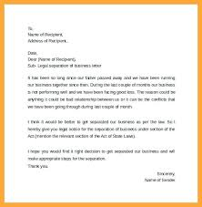 Separation Letter Template Themansmirror Co