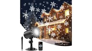 Snowfall Lights Amazon Christmas Snowflake Projector Lights Upgrade Rotating Led Snowfall Projection Lamp With Remote Cont