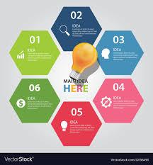 Six 6 Elements Of Idea Info Graphic Chart
