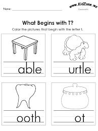 Kindergarten Phonics Worksheets Preschool For Printable Free 1 4 ...