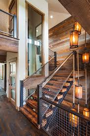 staircase lighting design. Unique Lighting Design Staircase Rustic With Floating Glass Panels