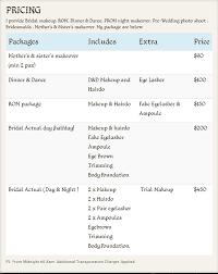 pics of wedding makeup artist cost