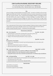 Sample Certified Nursing Assistant Resume Certified Nursing Assistant Resume Luxury Cna Home Health