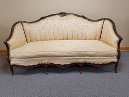 Early 1900s Antique Victorian Loveseat Settee Sofa Chaise Couch