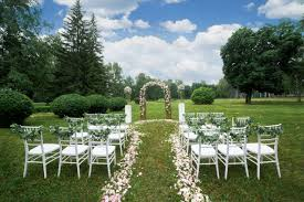 Outdoor wedding furniture Out Door Mosquito Magnet How Portable Restrooms Can Save Your Outdoor Wedding