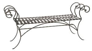 Wrought Iron Patio U0026 Garden Benches  EBayOutdoor Wrought Iron Bench