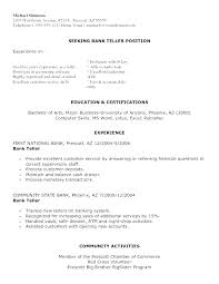 Bank Teller Resume Template Amazing Teller Resume Examples Sample Of Bank Teller Resume Banking Resume