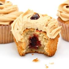 Ooey-Gooey Peanut Butter and Jelly Cupcake