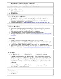 Free Printable Resume Templates Microsoft Word Resume Example Free