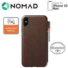 nomad leather folio case for iphone xs max