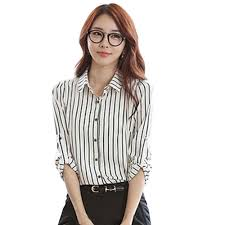 Verticle striped woman's blouse