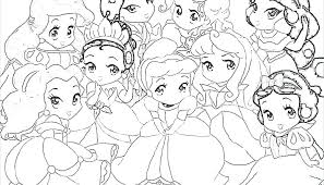 disney baby princess coloring pages characters