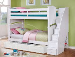 white bunk bed with stairs. Twin/Twin Ashton Bunk Bed In White With Staircase, Summerlin 3 Drawer  Storage And White Bunk Bed Stairs O