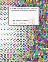 Isometric Graph Paper Drawing Notebook Full Sized 3