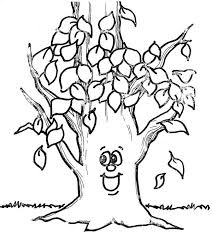 Small Picture Fall Coloring Page Tree Coloring Pages