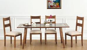 glass design room designs set wooden table top white wood unfinished reclaimed olx seater images shee