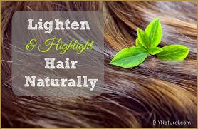 how to lighten hair naturally