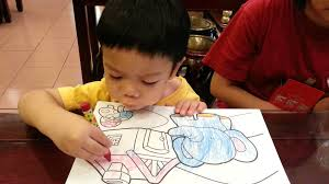 Small Picture 2 12 year old Toddler Colouring with Crayons YouTube