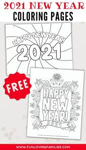 Collection by rachel | parenting + lifestyle tips. Happy New Year Coloring Pages For 2021 Fun Loving Families