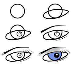 How To Draw Eyes Step By Step Drawing Cartoon Eyes