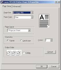 Canon Knowledge Base Printing Envelopes From Ms Word