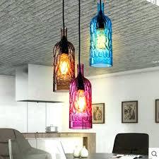 pendant light fixtures modern glass hanging light fixtures modern colorful wine bottle led pendant light brown rose red blue glass hanging lamps restaurant