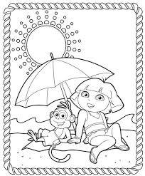 Dora The Explorer Printable Coloring Pages Kleurplaten